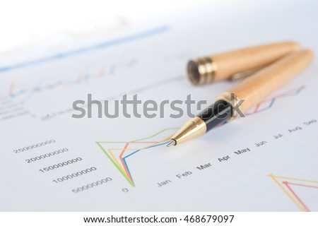 Stock market graphs and charts.