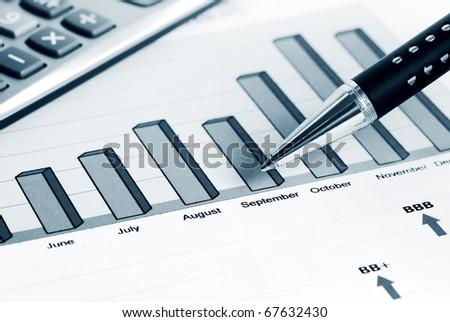Stock market graphs monitoring. - stock photo