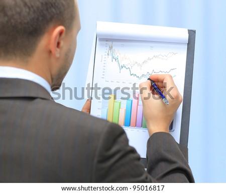 Stock market graphs monitoring - stock photo