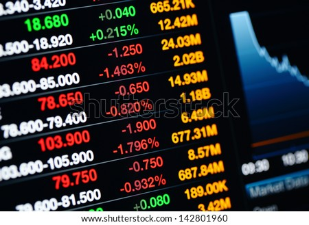 Stock market on display - stock photo