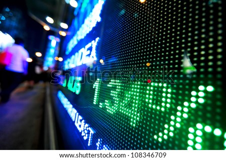 stock market price display