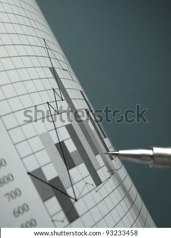 Stock market quotes (line graph) - stock photo