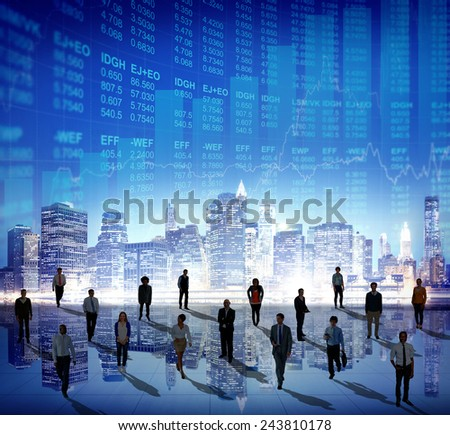 Stock Market Stock Exchange Trading Forex Business Currency International Concept - stock photo