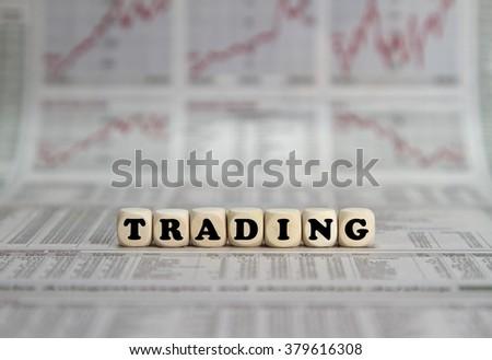Stock market trading - stock photo