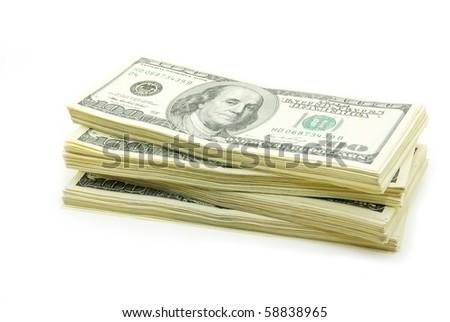 stock of money - stock photo