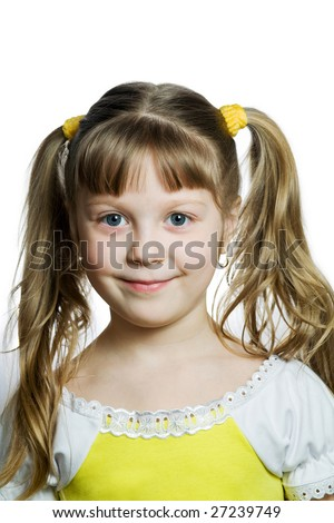 Stock photo: an image of a portrait of a smiling girl