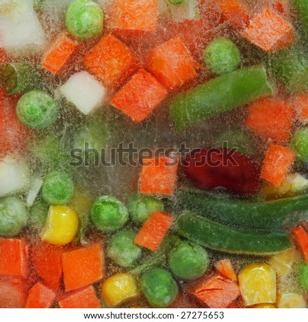 Stock photo: an image of frozen vegetables