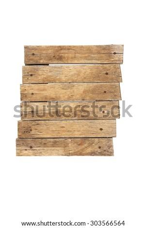 Stock Photo: Old planks isolated on white - stock photo