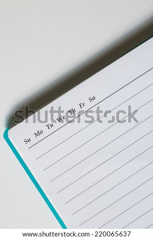 Stock Photo - white paper of notebook