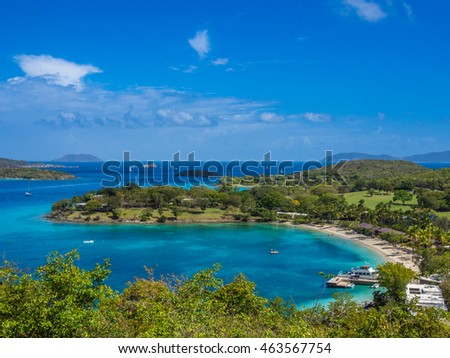 Stock picture of the tropical bay captured at Caribbean islands