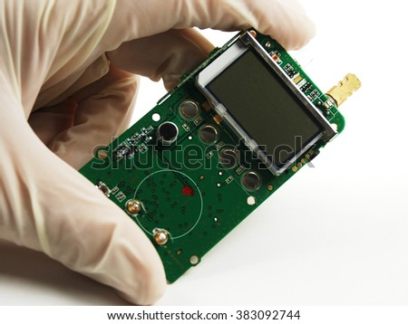 stock pictures of electronic components used to build circuits - stock photo