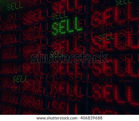 stock sell - stock photo