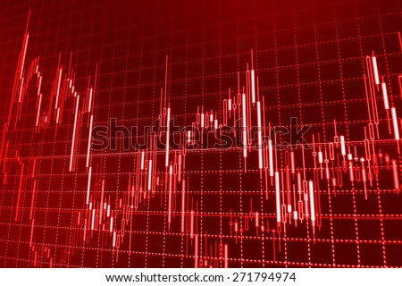 Stock trading chart on monitor screen. Finance background - stock photo