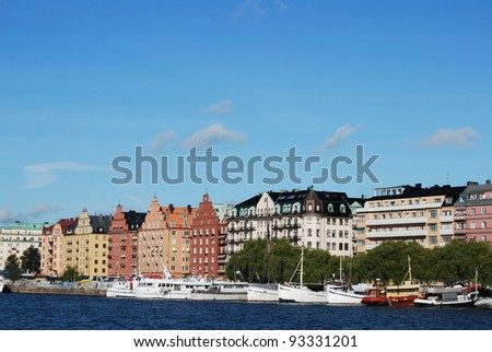 stockholm, capital of sweden, with its monuments, palace and castle - stock photo