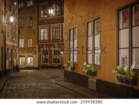 Stockholm, Old Town in Sweden. - stock photo