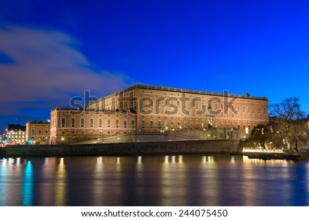Stockholm Royal Palace Sweden - stock photo