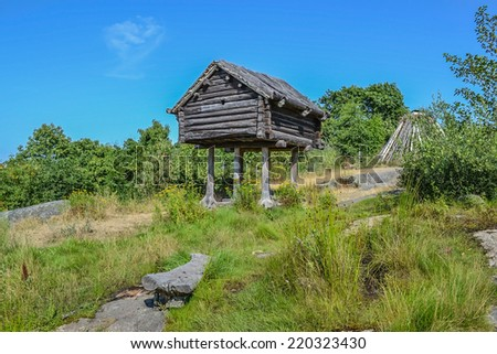 Stockholm, Sweden, 28 July 2014. The hut on chicken legs. - stock photo