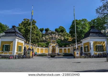 Stockholm, Sweden, July 28, 2014. The Park reserve. Skansen - stock photo
