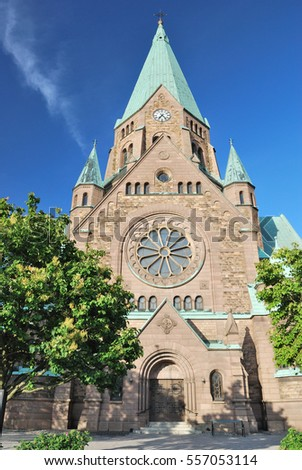 Stockholm, Sweden. Lutheran Sophia Church in a sunny summer day