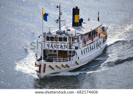 Stockholm Sweden May Tourist Cruise Stock Photo - Stockholm tours from cruise ships