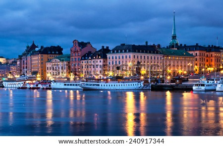 STOCKHOLM, SWEDEN - 30 NOVEMBER, 2014:Old town of Stockholm, Sweden on 30 November, 2014.