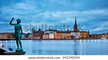 STOCKHOLM, SWEDEN - 30 NOVEMBER, 2014: Old town of Stockholm, Sweden on 30 November, 2014.  - stock photo