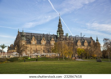 Stockholm, Sweden - October 31: View of the capital city of Stockholm, Sweden on October 31, 2014.