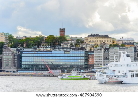 STOCKHOLM, SWEDEN - SEP 13, 2016: Architecture of the centre of Stockholm, Sweden. Stockholm is the most populous city in Scandinavia