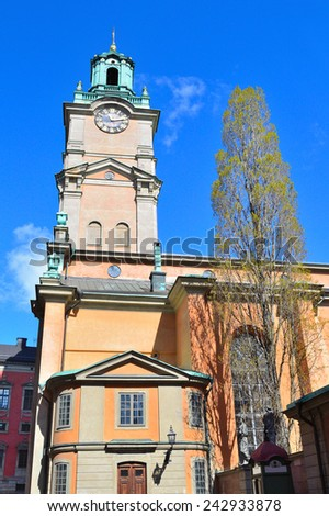 Stockholm, Sweden. Stockholm Cathedral, the oldest church in the city