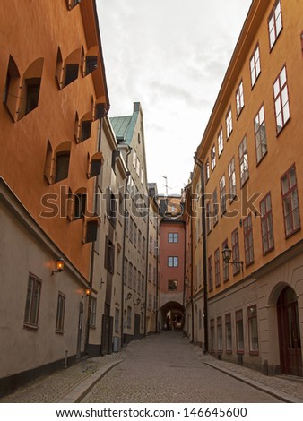 Stockholm. Typical architecture of the old city