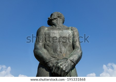 Stoertebeker memorial in Hamburg, Germany - stock photo