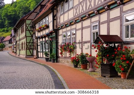 Stolberg half-timber houses  - stock photo
