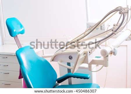 Stomatological instrument in the dentists clinic. Dental background: work in clinic (operation, tooth replacement).
