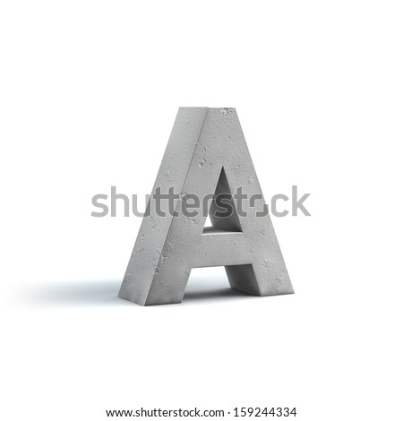 Stone Alphabet Design isolated on white background - stock photo