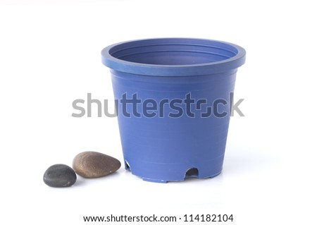 stone and pot - stock photo