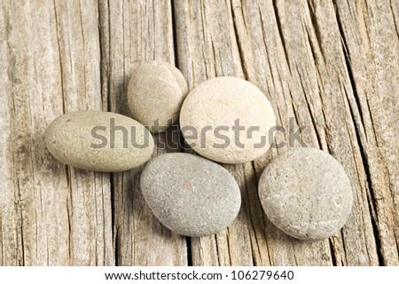 Stone and wood background - stock photo