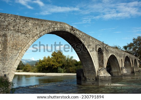 Stone arched bridge