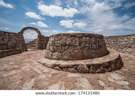 Stone Archway in Atacama Desert - stock photo