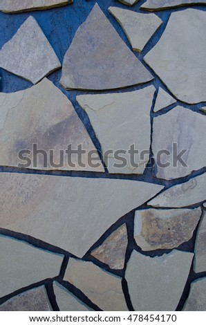 Stone background, facade, for the site template, blog, mosaic