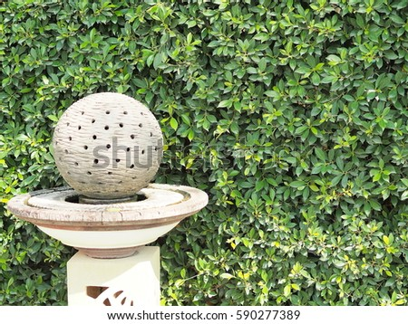 Stone Ball Holes Garden Decoration Art Stock Photo Royalty Free Simple Stone Ball Garden Decoration