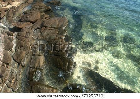Stone beach. - stock photo