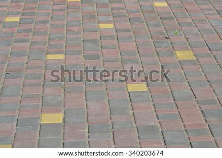 Stone block paving. Background - stock photo