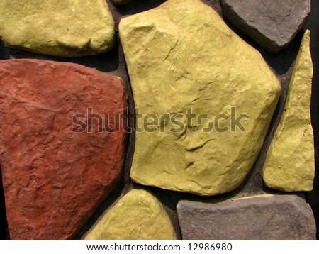 stone brick wall pattern 6 - stock photo