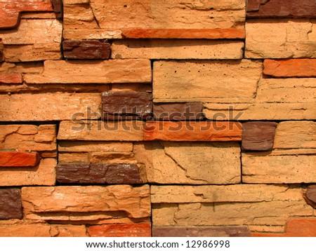 stone brick wall pattern 10 - stock photo