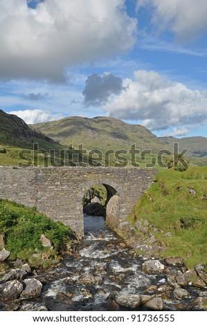 Stone bridge in kerry, Ireland - stock photo