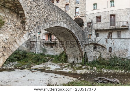 Stone Bridge in the old French town