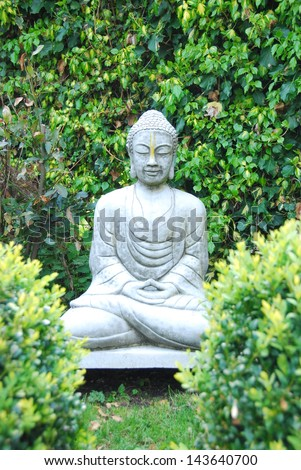 Stone Buddha statue - stock photo