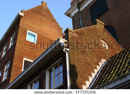 Stone buildings of Amsterdam