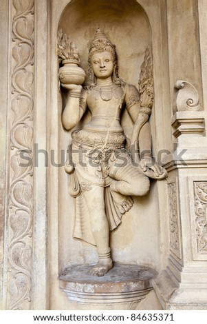 stone carving in temple of the tooth, candy, sri lank