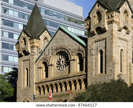 Stone church in Toronto - stock photo